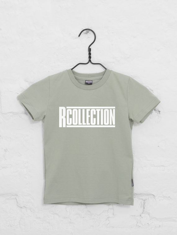 R-Collection Children's Classic T-Shirt white logo