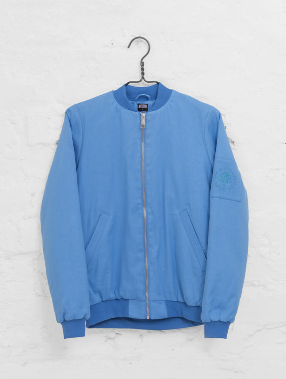 R-Collection Linen Bomber provence blue