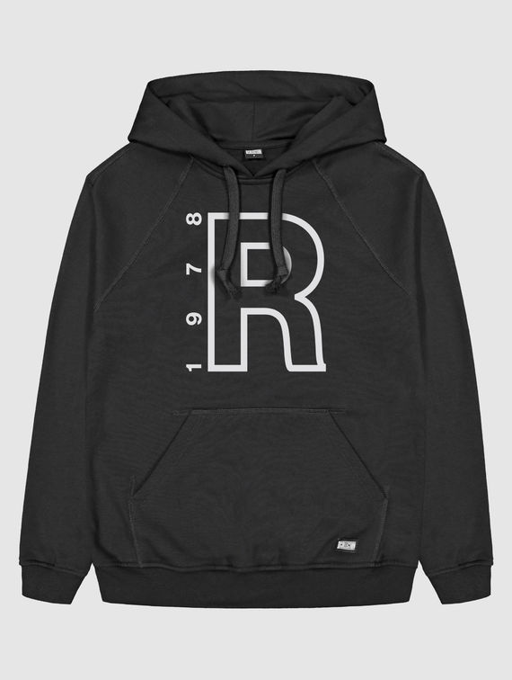 R-Collection Hoodie white R logo