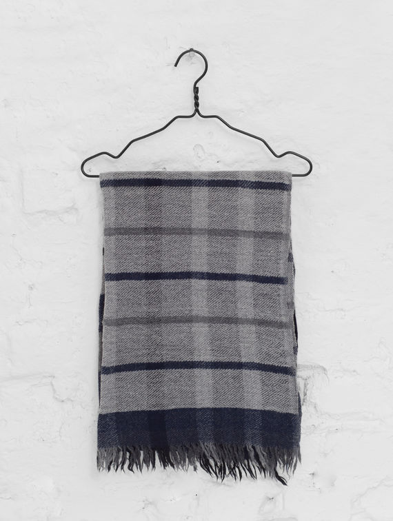 R-Collection Checkered Scarf