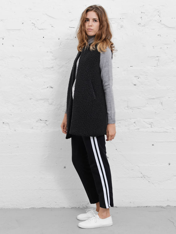 R-Collection Sporty Culottes black / white stripe