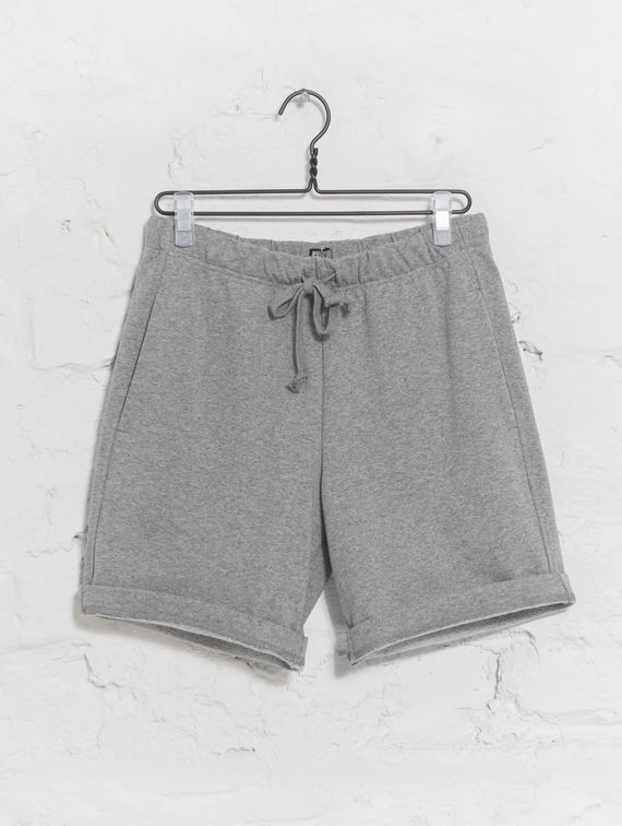 Sweatpant Shorts light melange grey