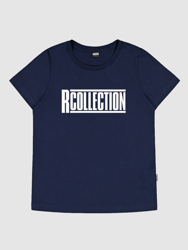 "Frauen-T-Shirt dunkelblau / ""R-Collection"" Logo weiß"