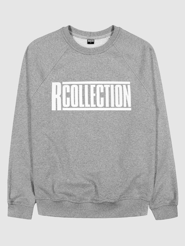 "Klassisches Sweatshirt hellgrau meliert  / ""R-Collection"" Logo weiß"